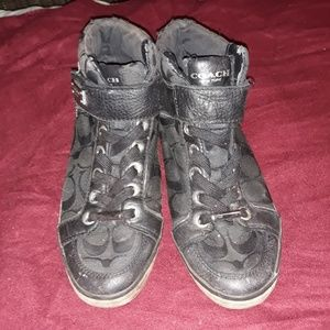 Authentic coach hightop sneakers